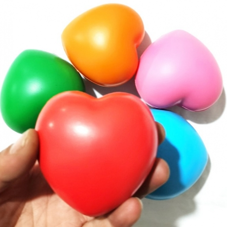 Heart shaped PU materials grip ball for promotion