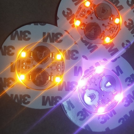 LED flash glass bottom sticker or light up wine bottle bottom paste