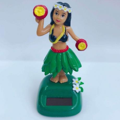Solar swing hawaiian hula girl as decoration