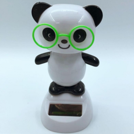 Solar energy swing Panda with glasses