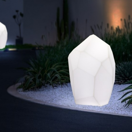 Outdoor lawn solar energy stone lamp