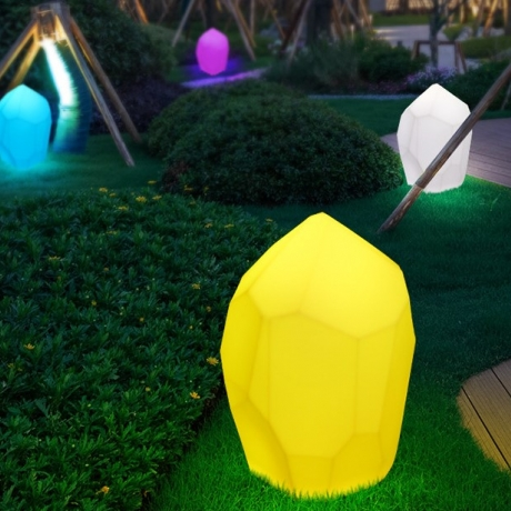 solar lawn stone shaped lamp