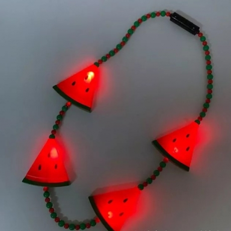 LED luminous watermelon petal Necklace