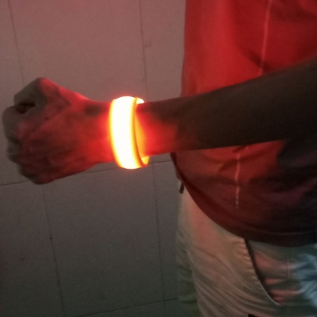 Rechargeable night safety wristband