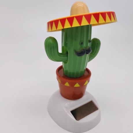Solar energy automatic swing cactus