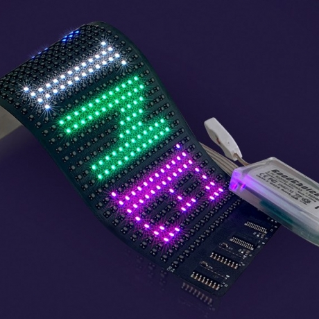 Led foldable flexible display soft screen for clothing
