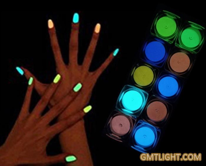 luminous powder for nail make up
