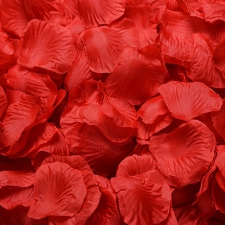 Rose petals for wedding ceremony decoration