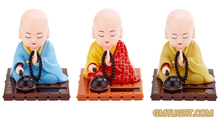 solar energy monk dynamic blessing decoration
