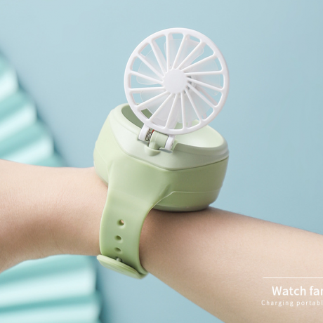 Rechargeable wristwatch fan