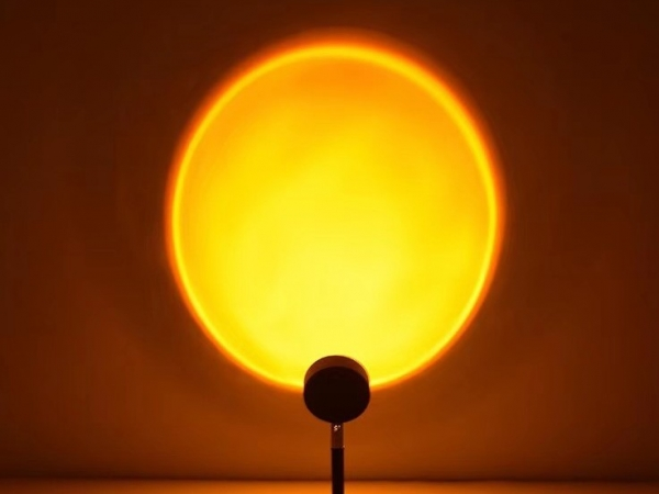 Led sunset effect atmosphere lamp for home landscaping