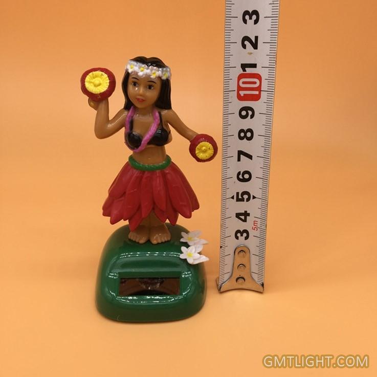 solar swing hula girl