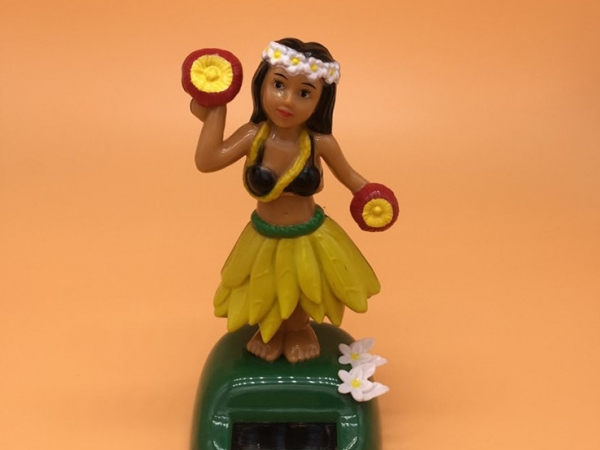Solar energy Hawaii girl solar swing hula girl