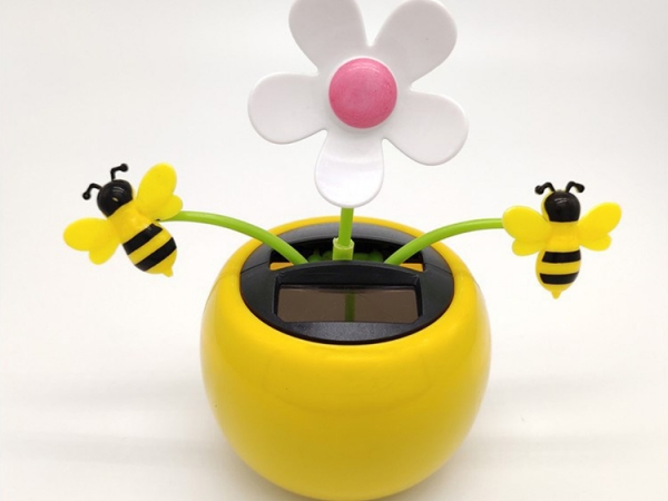 Solar swing car decorative flower and bees wholesale pack (No.SF-204)