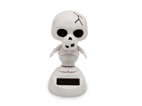 Solar power cute shape swing skeleton Halloween car decorative doll (No.SF-205)