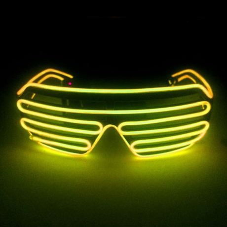 EL cable flashing effect colorful light party glasses (No.LFG-E10)