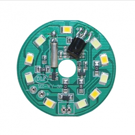 Circuit board system with remote control, light and vibration switch