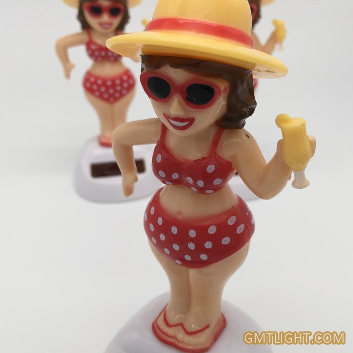solar dancing bikini girl
