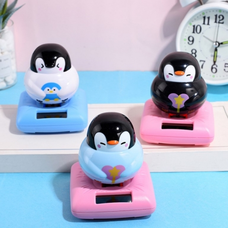 Solar swing penguin, shake head penguin, car accessories, solar swing Cartoon Penguin