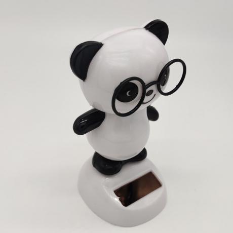Solar energy automatic dance panda swing Panda