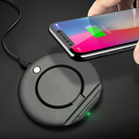Foldable bracket phone 10W wireless quick charger (No.CP-WX001)