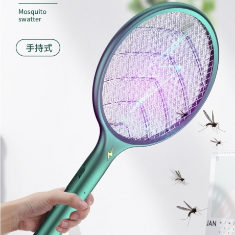 2in1 rechargeable electric mosquito killing racket swatter and lamp