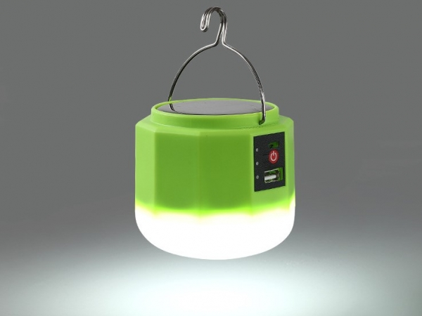 Solar light bulb for outdoor use