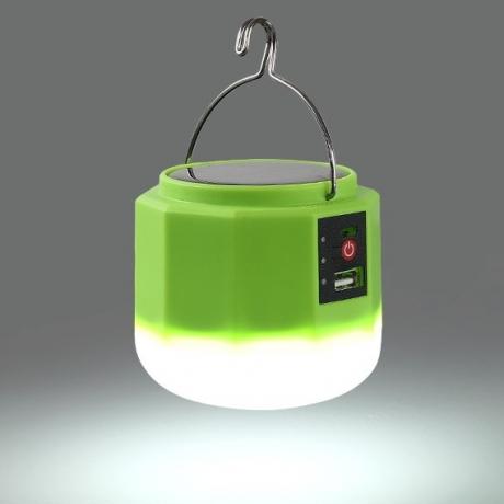 Solar light bulb for outdoor use
