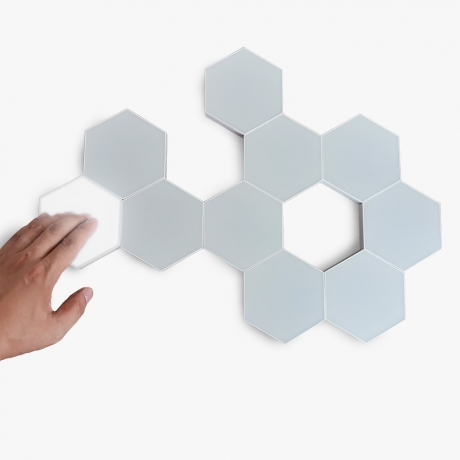 Customized installed LED touch control quantum hexagon wall light (No.LUL-012)