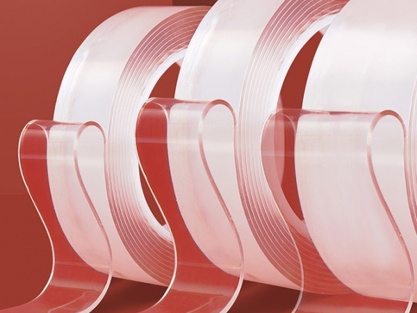 Nano class transparent double adhesive tape