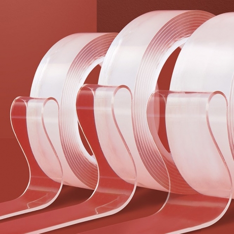 Nano class transparent double adhesive tape