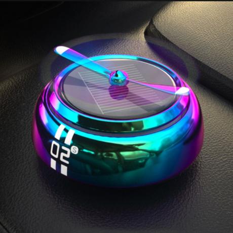 Solar power rotating car air fresher solid fragrance (No.SF-6834)