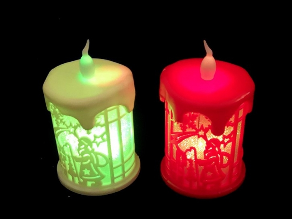 New version electronic candles for Christmas