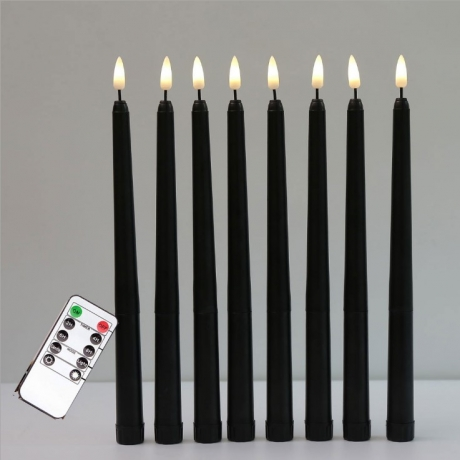 Electronic rod candle led rod wax with simulated flame