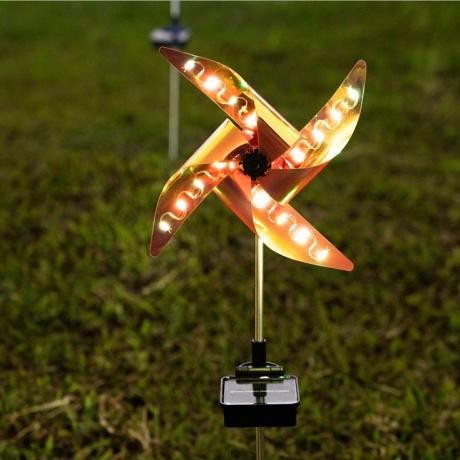 solar light windmill lamp