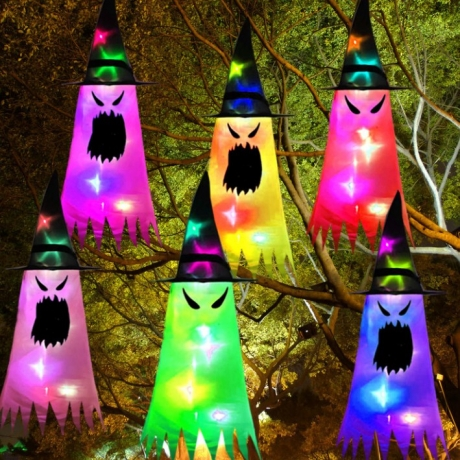 Halloween flash Witch Hat as hanging decorations
