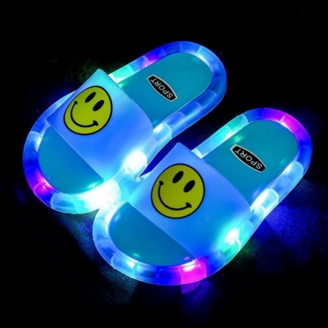 Luminous children's flash slippers for leisure party and beach party