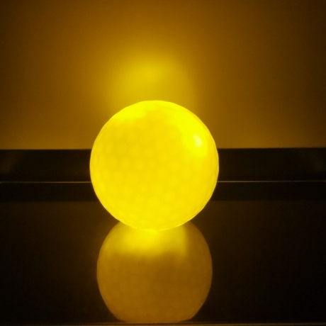 LED lights up golf ball