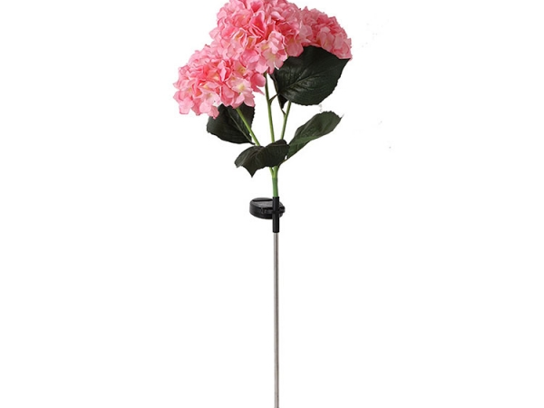 Solar powered rechargeable simulation flower shape outdoor rod lawn lamp (No.LUL-025)