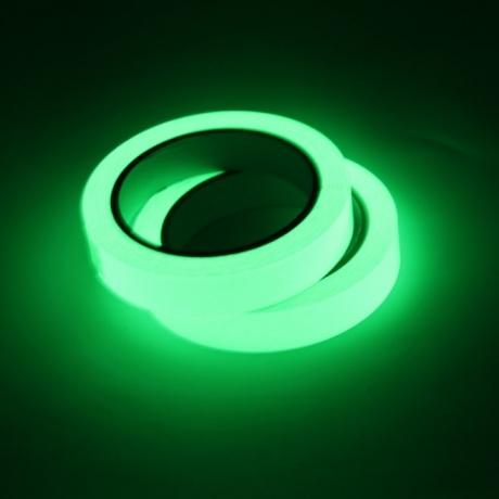 Luminous glow in dark tape for ground prompt line