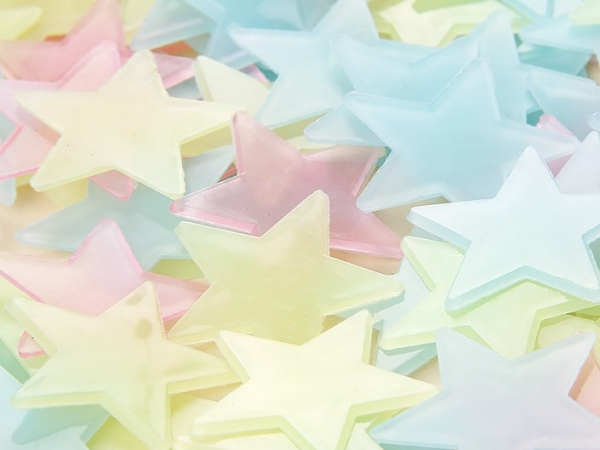 luminous decorative luminous star glow in the dark star