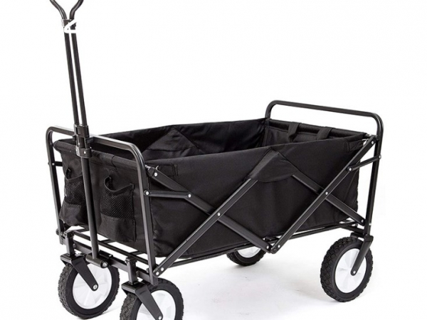 Four wheel folding trolley for camping