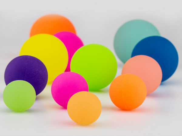High strength rubber elastic ball glowing in darkness