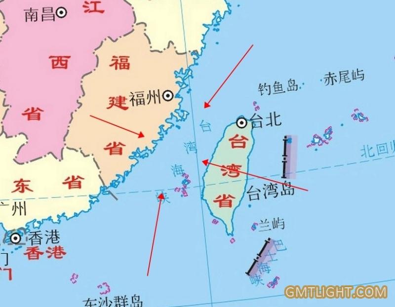 width of the taiwan strait