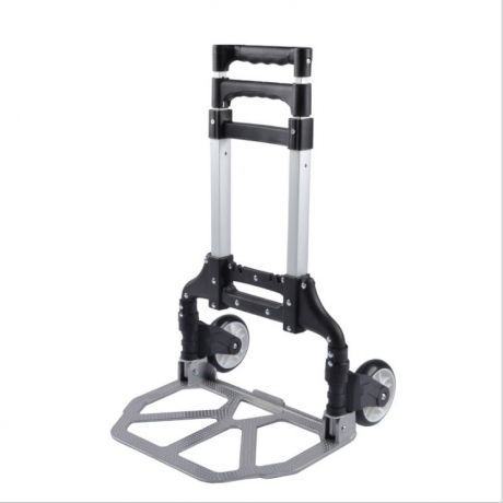 three lengths adjustable retractable luggage foldable cart with PU wheels