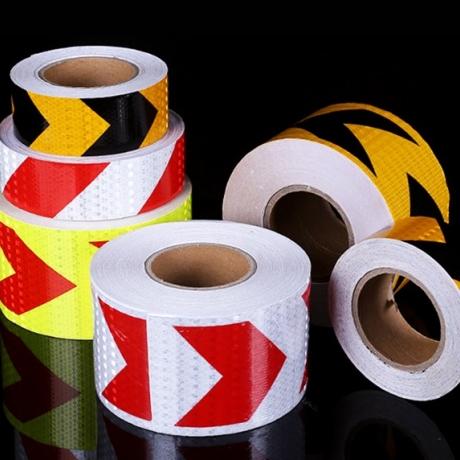 Red and white lattice reflective pet film adhesive