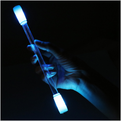 Special colorful manual rotating electronic fluorescent flash stick for bar and nightclub