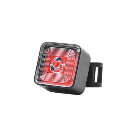 High brightness cube shape red LED color riding safety lamp for night activities   (No.BWT06R)