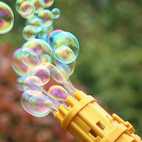 Electric multi tube soap bubble gun
