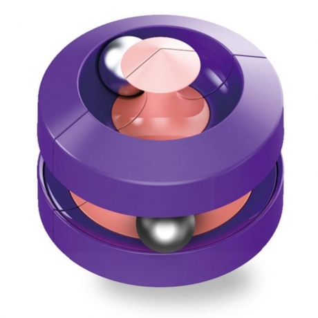 Decompression toy fingertip metal track ball gyroscope top